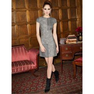 New Alice + Olivia Coley Mix Plaid Sheath Dress